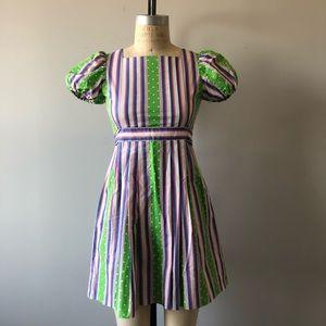 Vintage 1960's Polka Dot & Stripes Dress